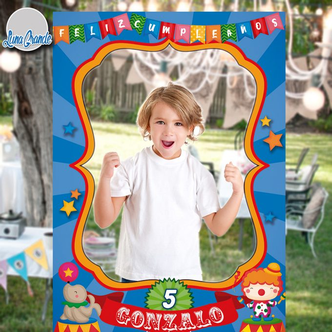 Photocall Cumpleaños Infantil Marco Circo