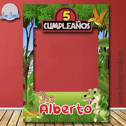 Photocall Marco Cumpleaños dinosaurios