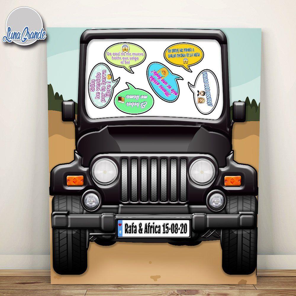 Photocall XXL Jeep personalizado - con atrezzo