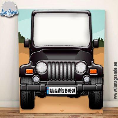 Photocall XXL Jeep personalizado - recortado