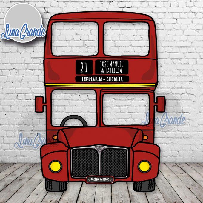 Photocall autobús ingles