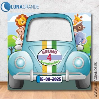 Photocall coche infantil