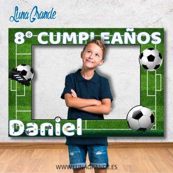Photocall marco cumpleaños fútbol