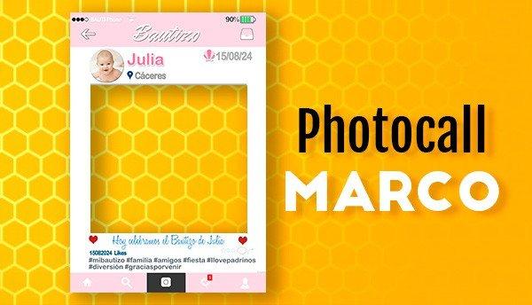 Photocall Marco para Bautizos
