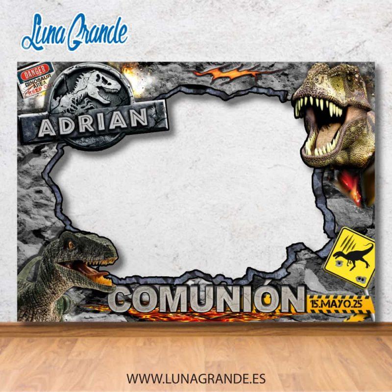 Photocall marcos Comunión Dinosaurios