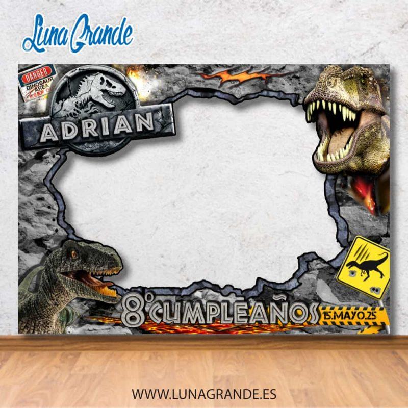 Photocall marcos Cumpleaños Dinosaurios