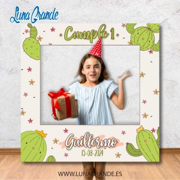 Photocall marcos Cumpleaños infantil Cactus