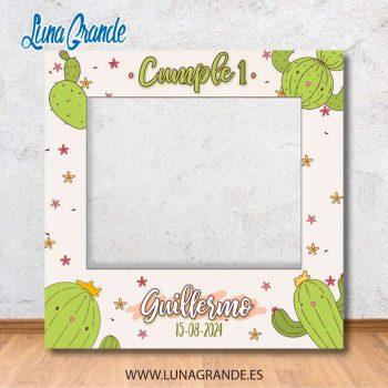 Photocall marcos de Cumpleaños infantil Cactus