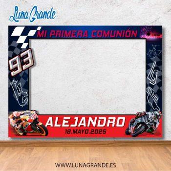 Photocall motociclismo Primera Comunión