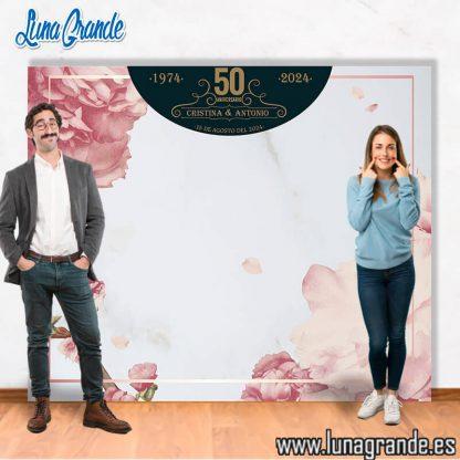Photocall personalizado para bodas de oro