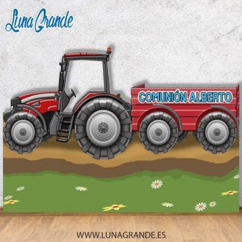 Photocall tractor con remolque