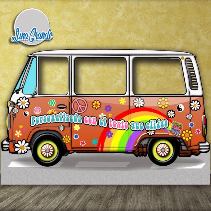 Photocall furgoneta hippie Naranja XXL