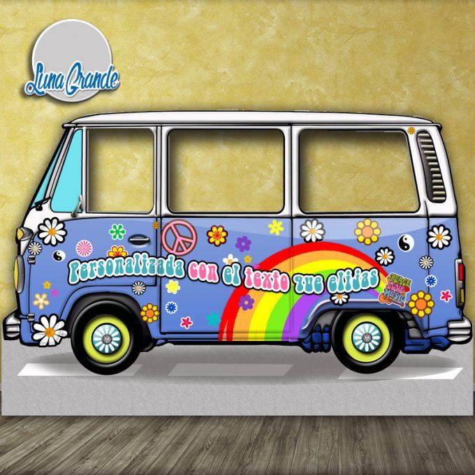 Photocall furgoneta hippie Celeste XXL