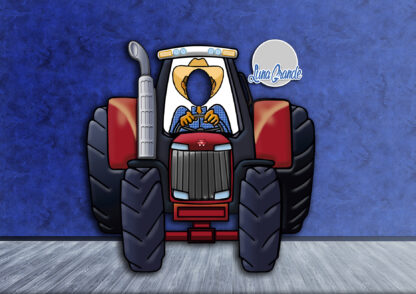 Photocall tractor Massey Ferguson