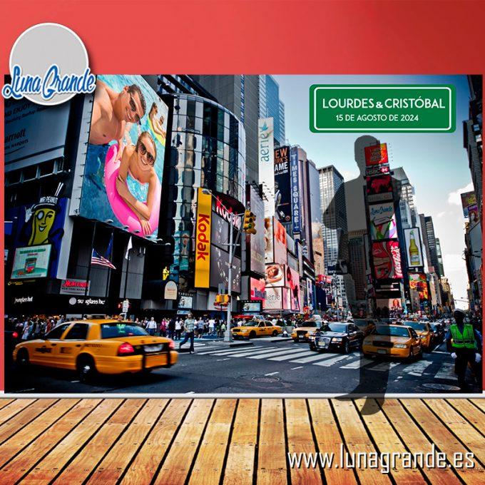 Photocall Lona Nueva York sin Estructura