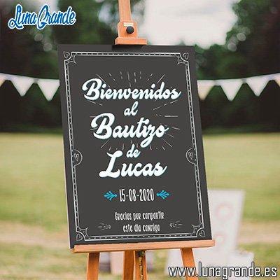 Cartel Bienvenida Bautizo niño