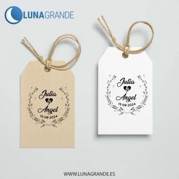 Sellos de caucho personalizados para bodas floral diente de león