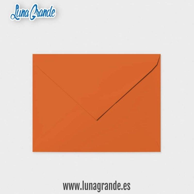 Sobre para invitaciones de boda en color Naranja