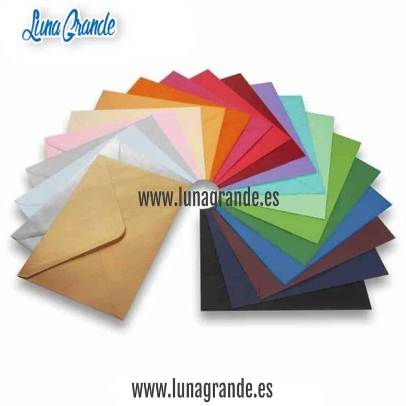Sobres para invitaciones de boda en muchos colores
