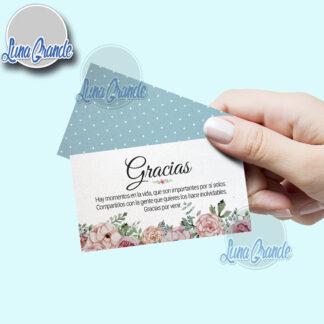 Tarjetas de agradecimiento floral 1 lg