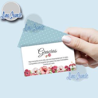 Tarjetas de agradecimiento floral 2 lg