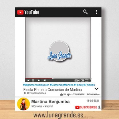 Photocall para Comuniones Marco Youtube