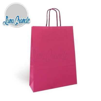bolsa de papel celulosa Rosa Fucsia