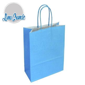 bolsa de papel celulosa celeste