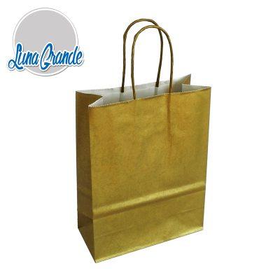 bolsa de papel celulosa dorada