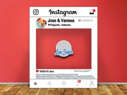 Photocall marco instagram 100x120 azul lg