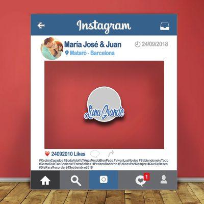 Photocall Marco Instagram 100 x 120 personalizado