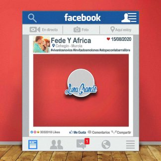 Photocall Redes Sociales Facebook 100 x 120 cm