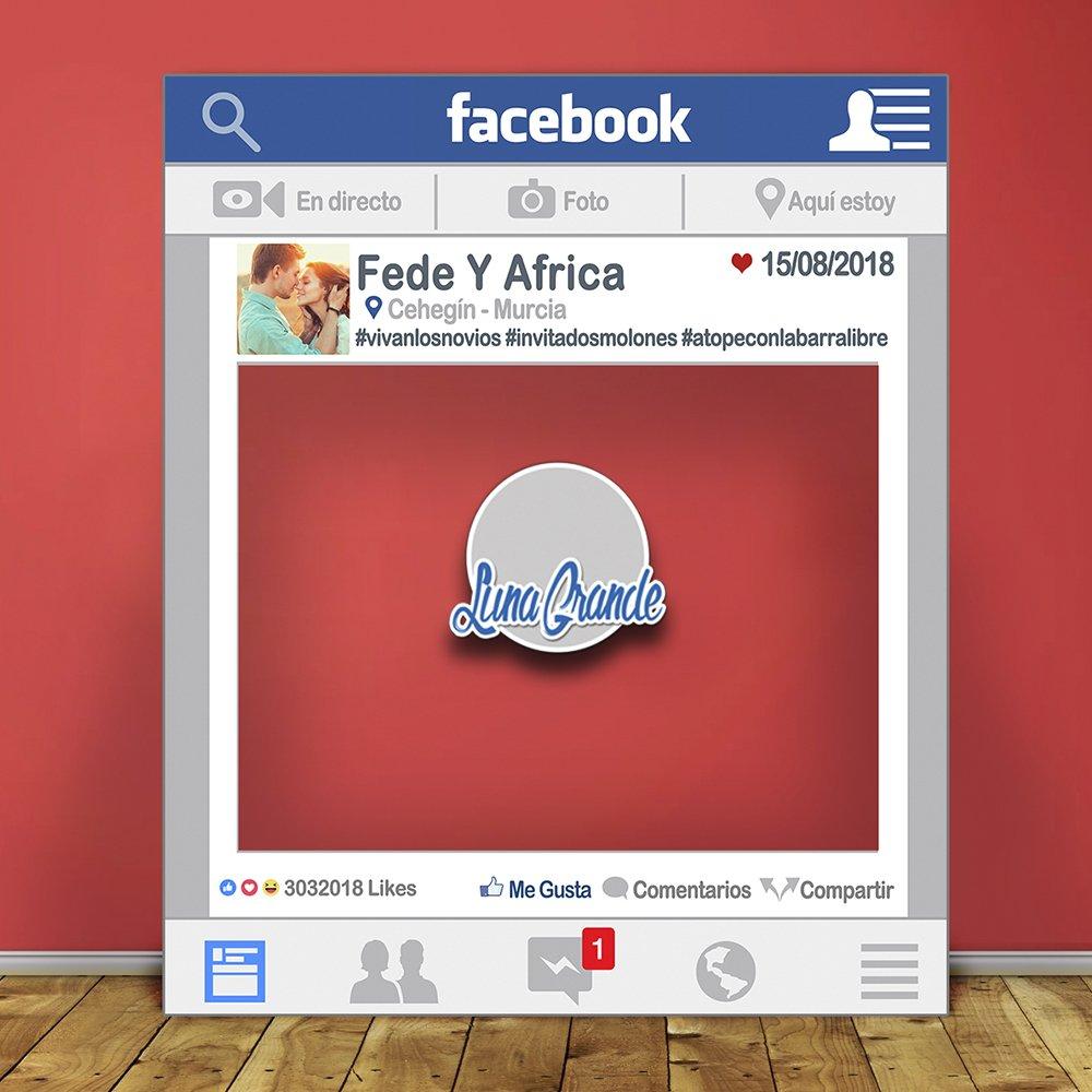 Photocall Marco Facebook 70x100 Totalmente personalizado, Envío gratis