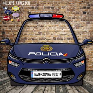 Photocall coche policía